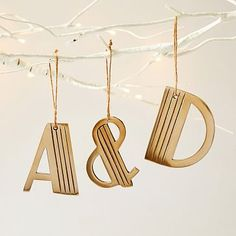 Deco Letter Ornaments