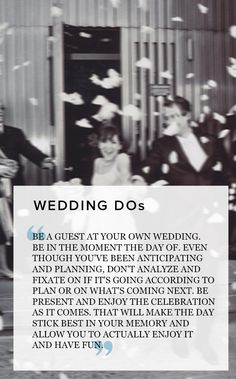 Important wedding DOs from a real bride! Pin now, read later when you need it!