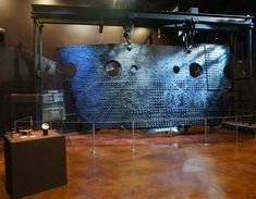 """Titanic's hull. SE.... Titanic's largest recovered artifact """"The Big Piece"""" at Titanic: The Artifact Exhibition"""