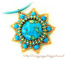 Turquoise sun.  Neat use of color!