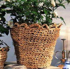[Raphia] Le cache-pot - La Boutique du Tricot et des Loisirs Créatifs