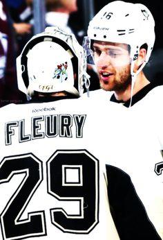 Marc-Andre Fleury & Brandon Sutter • Pittsburgh Penguins • barca-penguins.tumblr.com