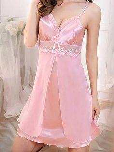 Lingerie Fine, Lace Lingerie Set, Pretty Lingerie, Babydoll Lingerie, Beautiful Lingerie, Lingerie Sleepwear, Nightwear, Silk Sleepwear, Pijamas Women