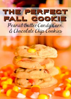 The perfect fall cookie! Peanut butter, candy corn, and chocolate chips give this cookie a perfect balance of salty & sweet, and you get a great pop of fall colors, too! We'll be making these for this year's Halloween party!
