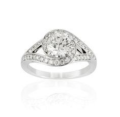Bague tourbillon diamant monture en platine