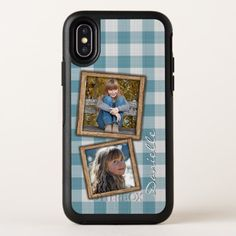 Custom French Country Farmhouse Checks Pattern iPhone X Case - artists unique special customize presents