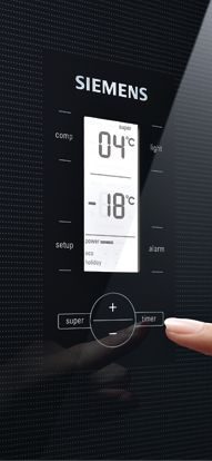 With the LCD screen the temperature of the Siemens cooling appliances can be regulated exactly. // Über den LCD-Screen lässt sich die Temperatur der Siemens Kühlgeräte gradgenau regeln. #Kuehlschrank #refrigerator #enjoysiemens