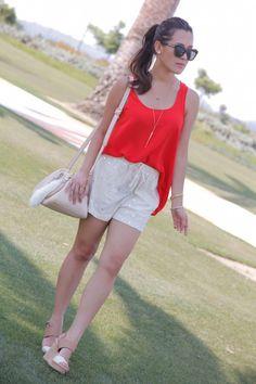 Style in Orange & white