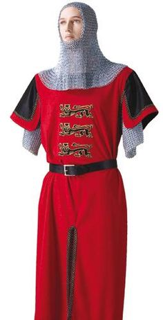 Richard the Lion Heart Tunic Costume Medieval Knight Costume, King Richard, Costumes, Robin, Lion, September, Mens Tops, Tunic, Play