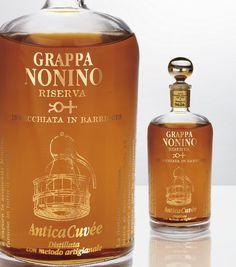 Nonino Grappa Antica Cuvee Italian Drinks, Italian Wine, Italian Cooking, Food Pairing, My Bar, Wine And Spirits, Coffee Drinks, Whisky, Whiskey Bottle