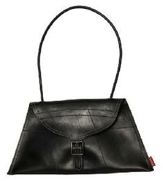 Recycled inner tube purse is so cool.