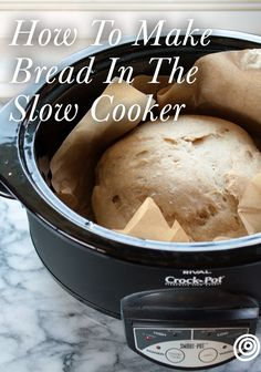 u don't have to turn on the oven this summer to get your fresh bread fix — just plug in your Crock-Pot. # Food and Drink meals crock pot How To Make Bread in the Slow Cooker Crock Pot Bread, Crock Pot Slow Cooker, Crock Pot Cooking, Cooking Recipes, Bread In Slow Cooker, Bread Crockpot, Slow Cooker Recipes Dessert, Slow Cooker Breakfast, Crock Pots