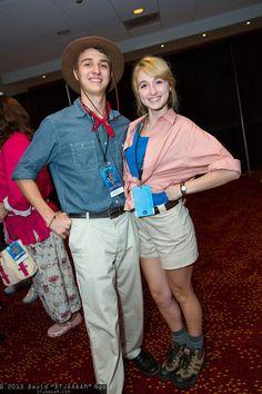 Alan Grant and Ellie Sattler (Jurassic Park) #DragonCon2013 #DTJAAAAM