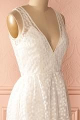 Abebe - White sequined lace maxi dress