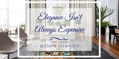 Make your home look great without breaking the bank! #luxury #elegance #affordable