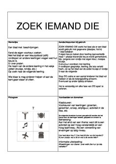 Zoek iemand die