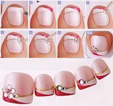nail art ideas - summer toe nail art