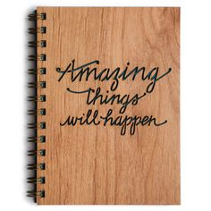 Amazing things WILL happen!