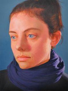 Available for sale from Bernarducci Meisel Gallery, Gabriele Grones, Elisa II Oil on canvas, 15 × 11 in Oil On Canvas, Artsy, Gallery, Face, Artwork, Portrait Paintings, Work Of Art, Roof Rack, Portrait
