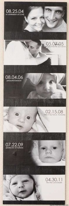 combining most Important dates in life with photos