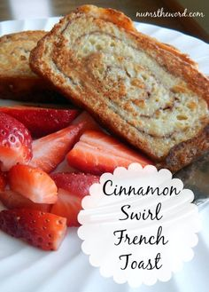Num's the Word: If you love cinnamon rolls and cinnamon swirl bread, you'll love these cinnamon swirl french toast!  Easy and delicious!  Make your own cinnamon swirl bread or buy premade!