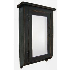 Pic On Country Distressed Rustic Medicine Cabinet Mirrored Door