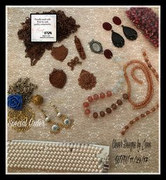 WTW for 11/29/17 .. working on a special order to go with the earrings shown .. B'sue by 1928 necklaces and earrings .. Clever Designs by Jann
