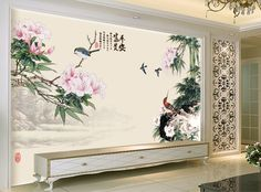 Tapisserie paysage asiatique sur mesure papier peint chinois personnalis p - Papier peint asiatique ...