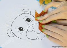 Lion Leaf Craft with Printable Template - Easy Peasy and Fun