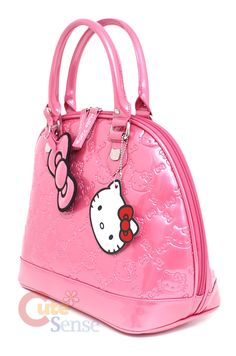 8cf870d217 Sanrio Hello Kitty Shiny Embossed Hand Bag- Princess Pink Hello Kitty Purse