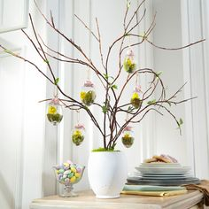 "Your family will be ""egg-static"" when they see your festive Easter tree. Easter Crafts, Holiday Crafts, Easter Ideas, Spring Crafts, Holiday Fun, Egg Tree, Some Bunny Loves You, Michael S, Diy Easter Decorations"