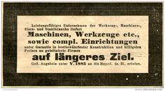 Original-Werbung/ Anzeige 1905 - MASCHINEN / WERKZEUGE / CHIFFRE-ANZEIGE - ca. 100 x 50 mm
