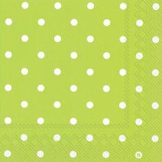 Dainty Dots Lime Lunch Napkins - Polka Dot - Patterns PlatesAndNapkins.com