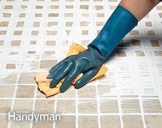 Wipe away the excess colorant. How to Whiten Grimy Grout: http://www.familyhandyman.com/tiling/grouting/how-to-whiten-grimy-grout/view-all