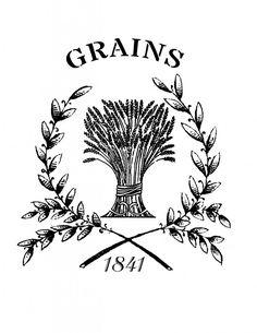 Printable French Grain Sack - Wheat - The Graphics Fairy