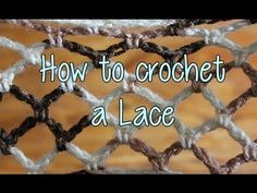 How to crochet a Basic Lace - Crochet Lessons - YouTube