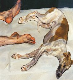 """129 Likes, 3 Comments - Acquavella Galleries (@acquavellagalleries) on Instagram: """"Happy #NationalDogDay!  This painting by Lucian Freud features the whippet, Eli, whom Lucian…"""""""