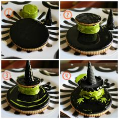 My favorite Halloween cookie.Melting Witch Decorated Cookie My favorite Halloween cookie. Halloween Cookies Decorated, Halloween Cupcakes, Decorated Cookies, Shortbread Recipes, Cookie Recipes, Halloween Food Crafts, Halloween Ideas, Sunflower Cookies, Buckwheat Cake
