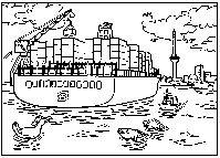 Vrachtschip tekening - Port of Rotterdam - Havenbedrijf Rotterdam - Corporate Storytelling - Powered by DataID Nederland