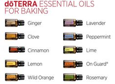 Tips For Baking With Essential Oils