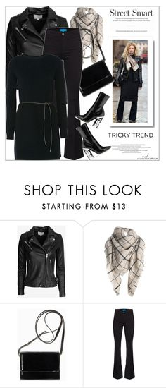"""""""Black"""" by arethaman ❤ liked on Polyvore featuring IRO, H&M, MiH, Helmut Lang, women's clothing, women's fashion, women, female, woman and misses"""