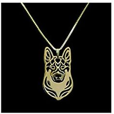 Rose Gold German Shepherd Necklace Pendant