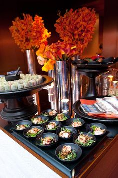 Fresh green salads and vegetable spring rolls are beautiful options for a wedding food station of Vietnamese fare.