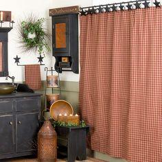 "Sturbridge Shower Curtain in Wine 72x72"""