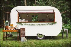 Such a fun bar set up for a wedding! Styled by Oak + Honey, photo by Aster + Olive