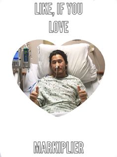 Poor mark is in the hospital, show him support by liking this photo!