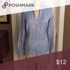 Ann Taylor front button shirt Open neck long sleeve shirt Ann Taylor Tops