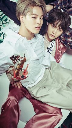 Ooooh look my bias (Yoongi) and bias wrecker (Jimin) have come to make my life more difficult.