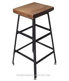 Barstool, Counter stool, Work stool, Commercial Barstool, Reclaimed Wood Industrial Steel, Free Shipping  Check It Out Now     $99.00    Industrial Bar Stool, Metal base fabricated-to-order from raw steel angle iron. The wooden seat is handcrafted-to-ord ..  http://www.handmadeaccessories.top/2017/03/30/barstool-counter-stool-work-stool-commercial-barstool-reclaimed-wood-industrial-steel-free-shipping-2/