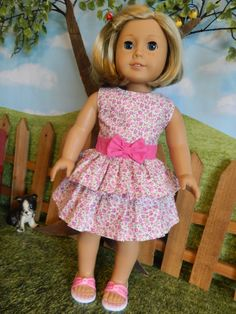 "American Girl doll clothes dress - 18"" doll clothes dress"